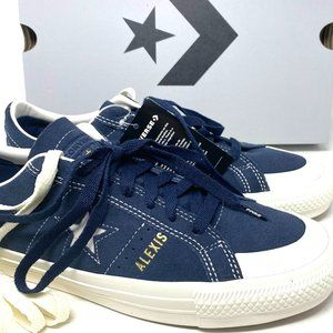 Converse OS PRO AS OX obsidian Blue Suede Sneakers